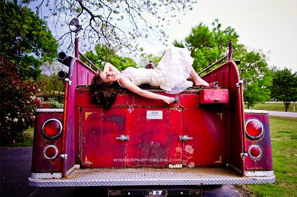 Wedding Firetruck Photography